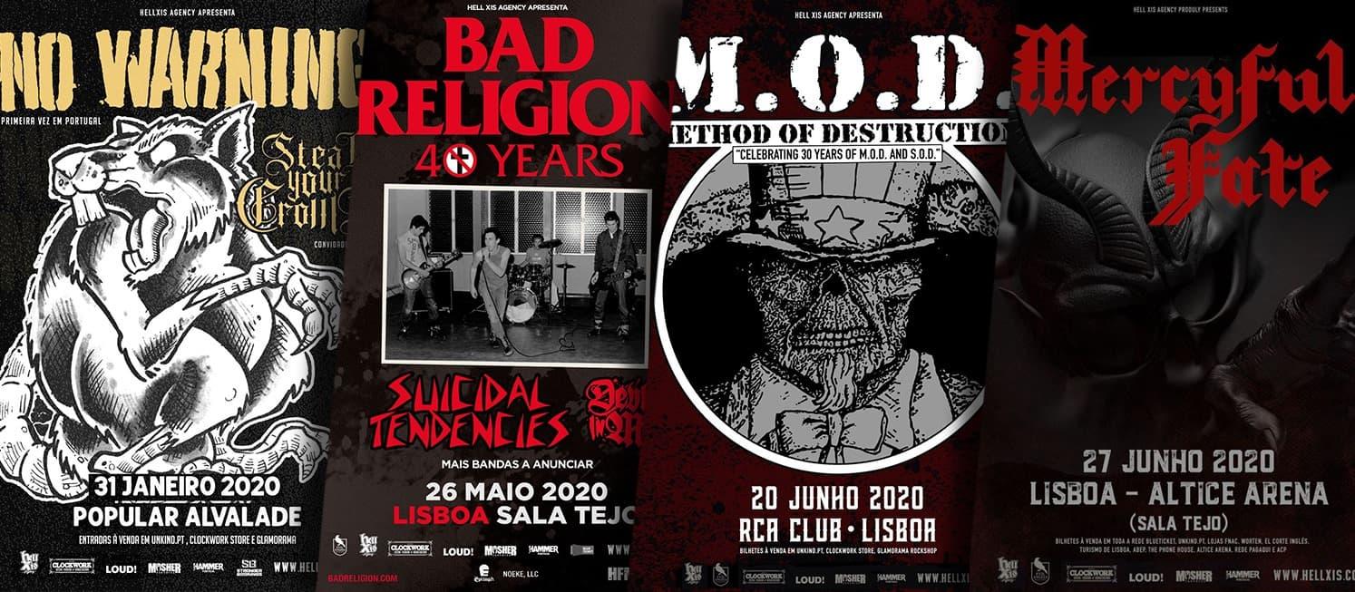 LX é da HELL XIS - Mercyful Fate, Bad Religion e muito mais em Lisboa